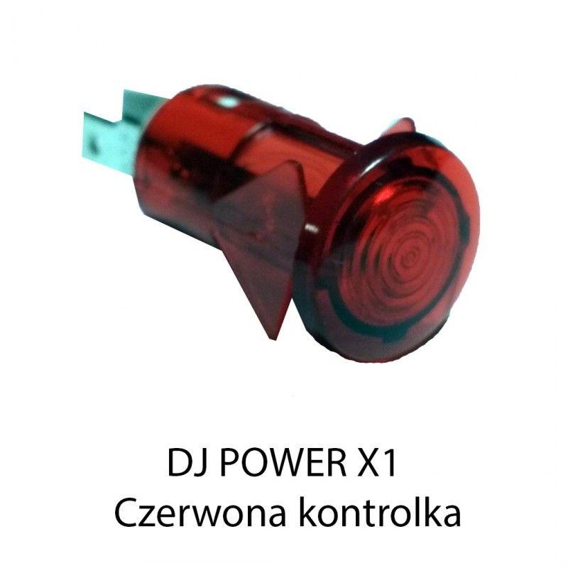 S. DJ POWER X-1 MINI KONTROLKA CZERWONA