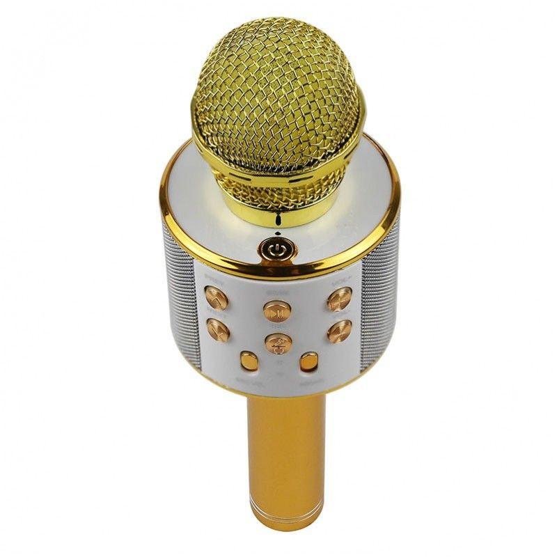 NN MIKROFON KARAOKE GOLD głośnik Bluetooth USB SD