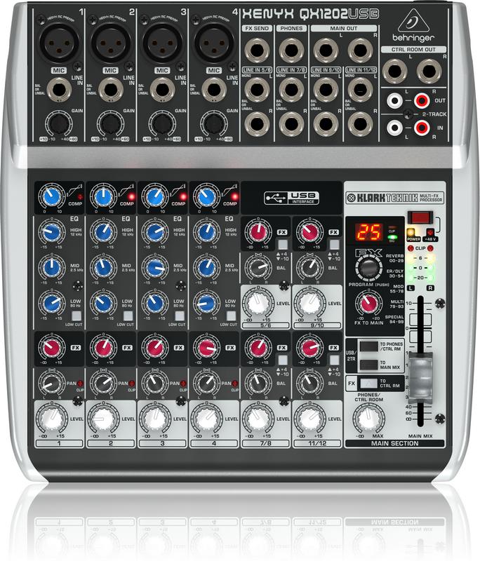 BEHRINGER XENYX QX 1202 USB mikser analogowy audio