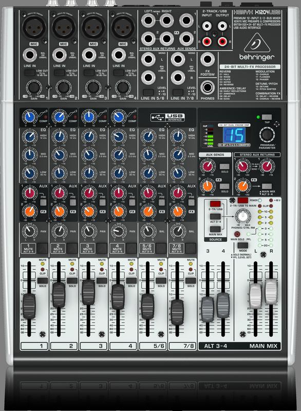 BEHRINGER XENYX X 1204 USB mikser analogowy audio