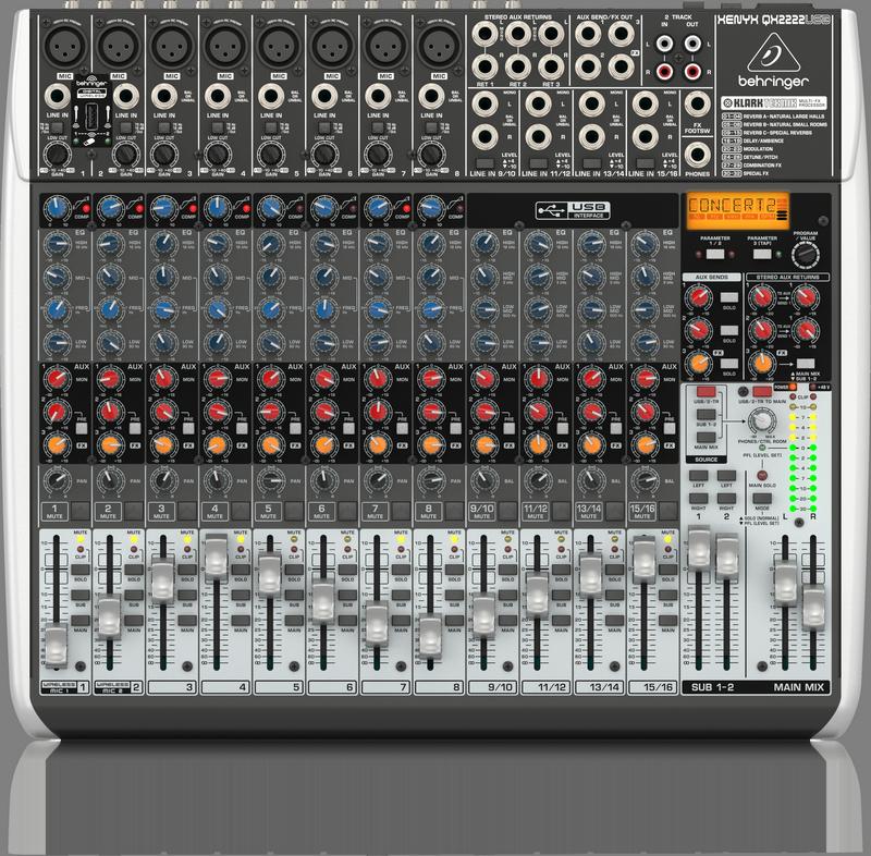 BEHRINGER XENYX QX 2222 USB mikser analogowy audio