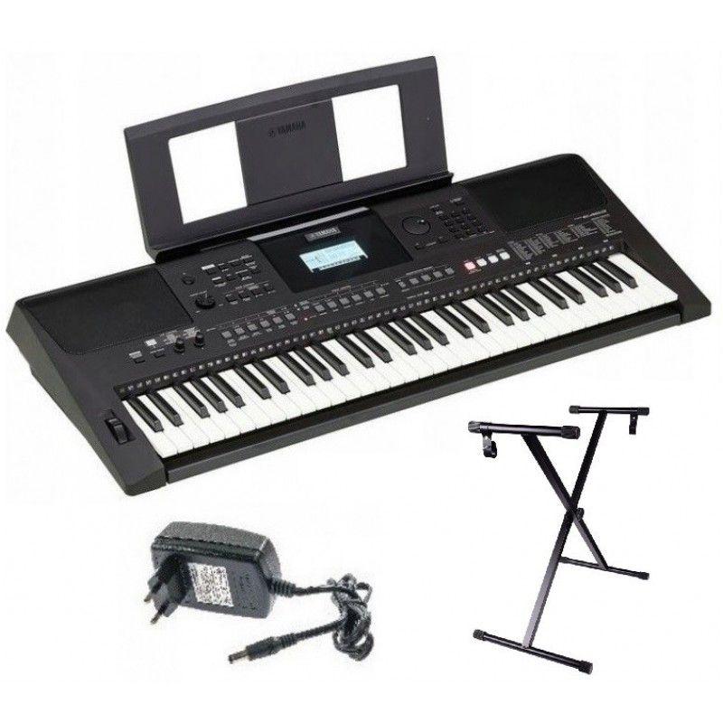 YAMAHA PSR E 463 keyboard z dynamiczną USB SET1