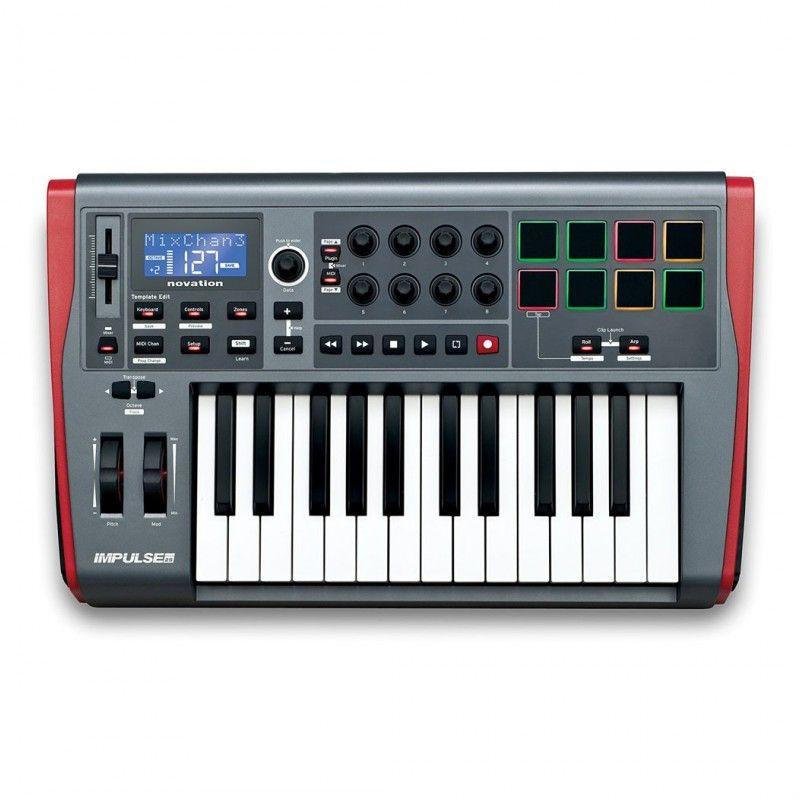 NOVATION IMPULSE 25 klawiatura sterująca MIDI USB
