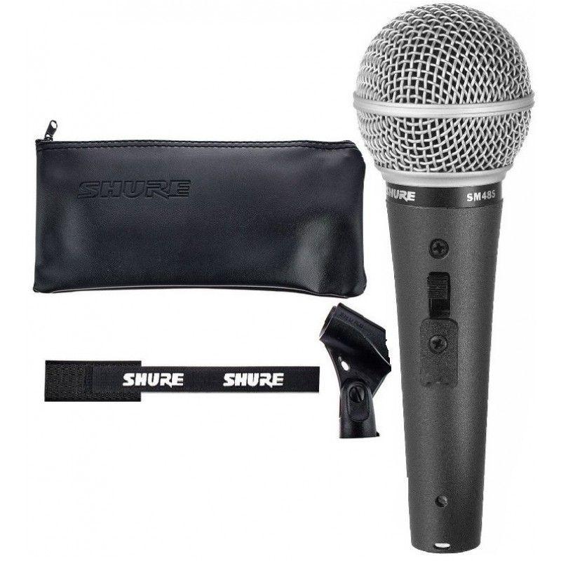 SHURE SM 48S LC mikrofon dynamiczny z włącznikiem