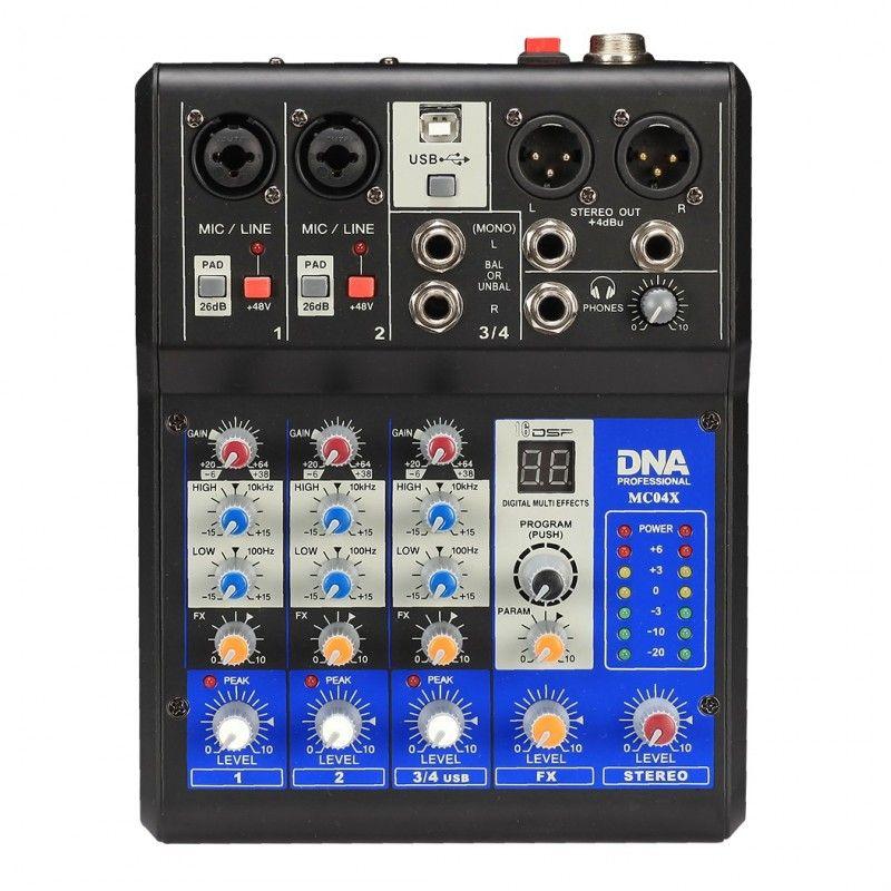 DNA MC04X analogowy mikser audio DSP interfejs USB