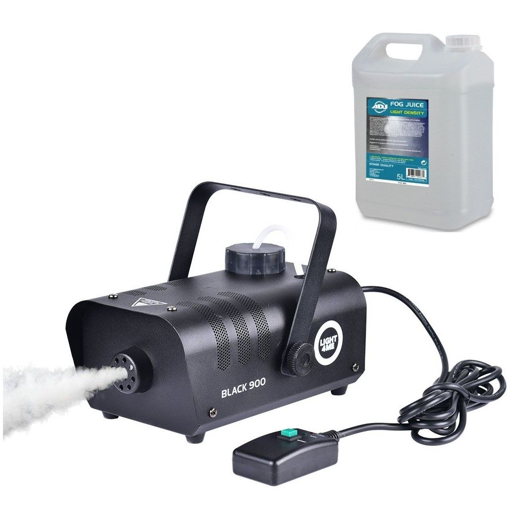 LIGHT4ME BLACK 900 - wytwornica dymu, mgły + płyn 5L