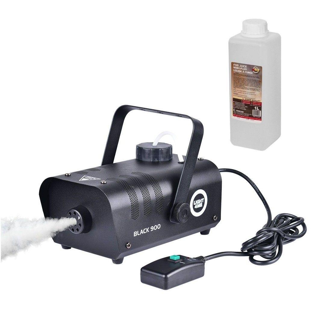 LIGHT4ME BLACK 900 - wytwornica dymu, mgły + płyn 1L