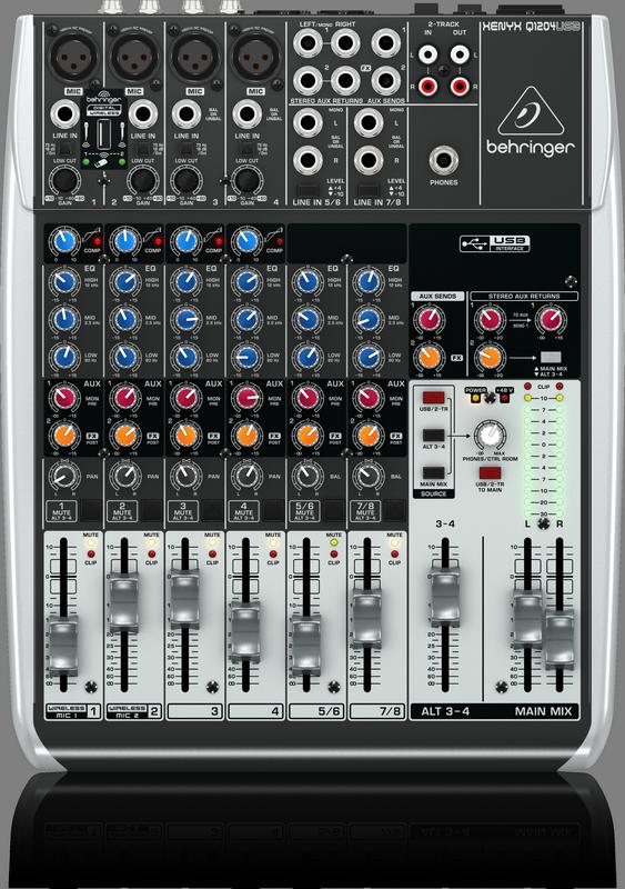 BEHRINGER XENYX Q1204 USB mikser analogowy audio