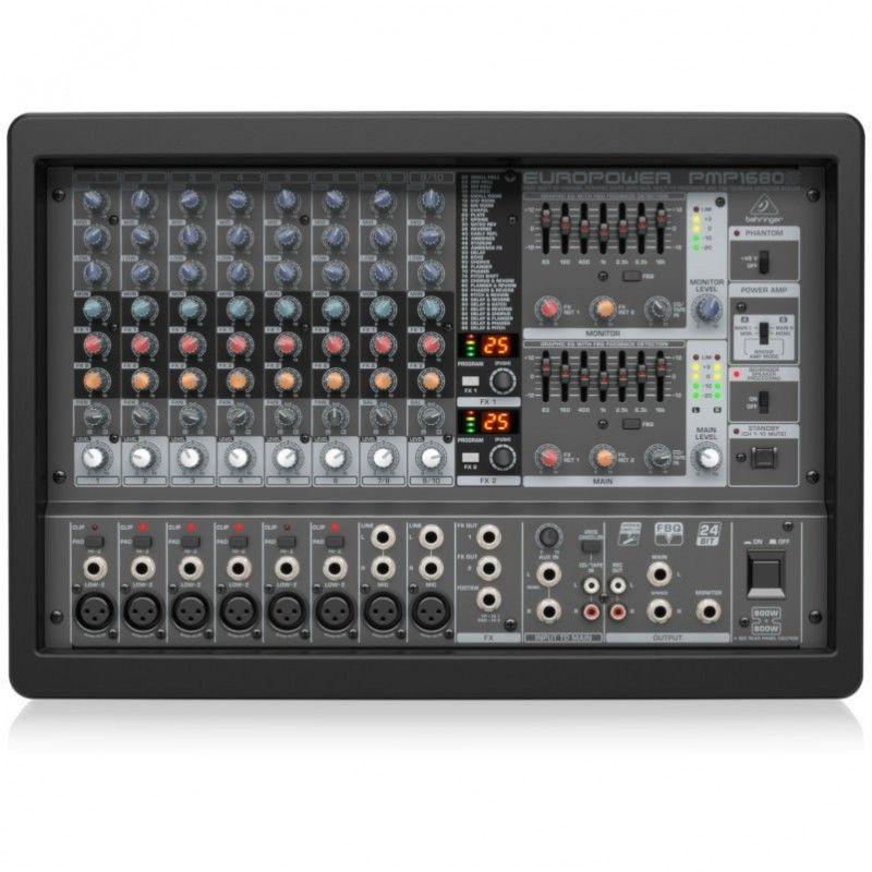 BEHRINGER PMP 1680S powermikser analogowy 2x800W