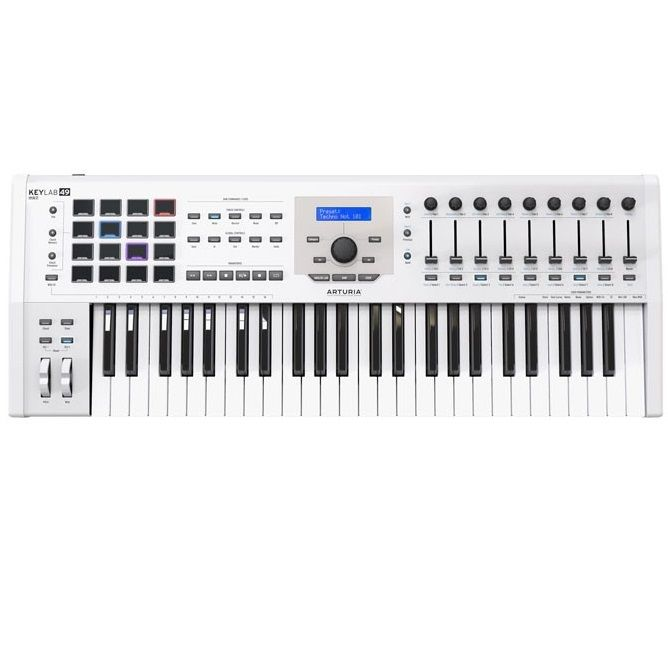 ARTURIA KEYLAB 49 MK2 WHITE klawiatura sterująca kontroler MIDI USB