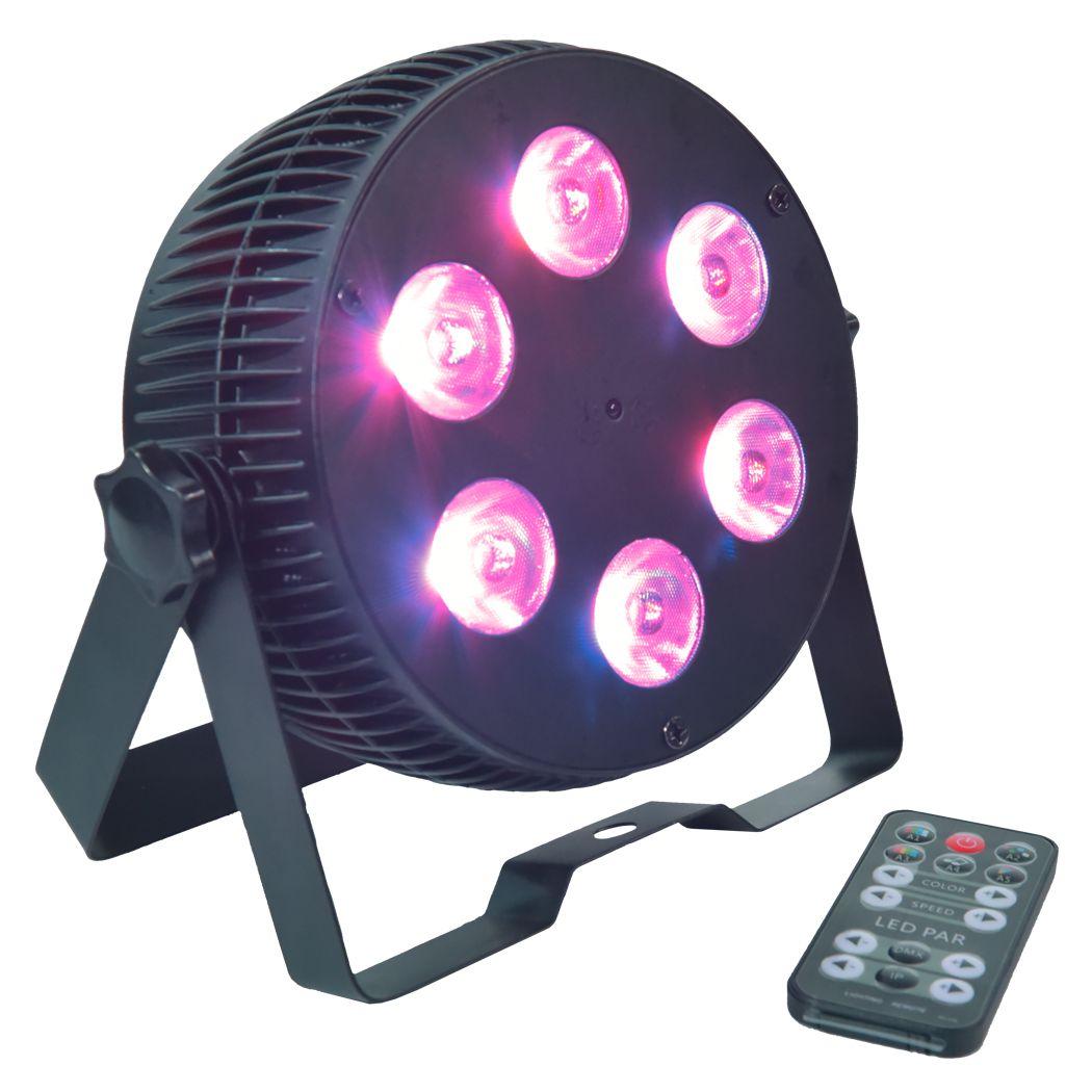 LIGHT4ME ART PAR 6x15W reflektor LED RGBWAUV cichy
