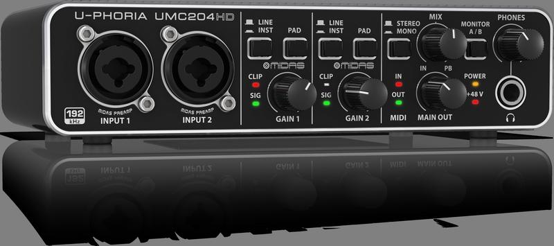 BEHRINGER U-PHORIA UMC 204 HD interfejs audio USB