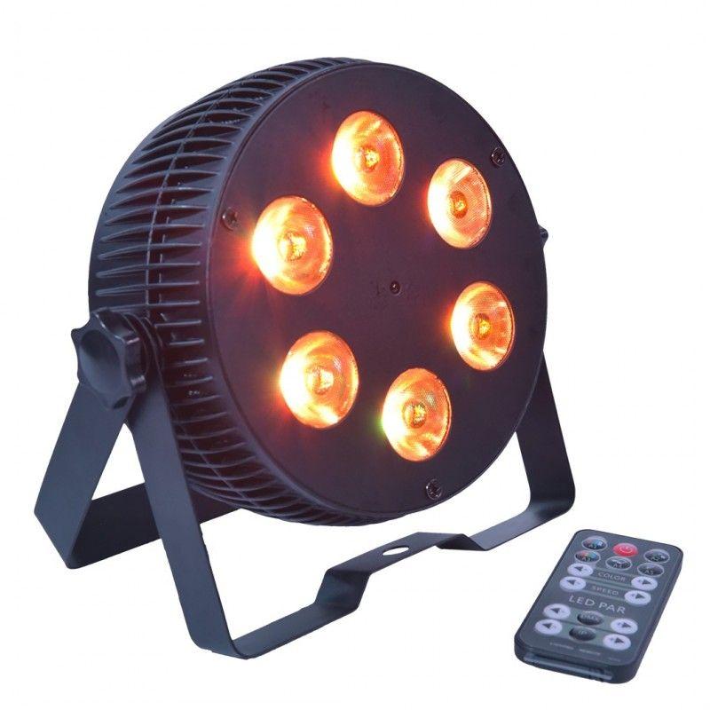 LIGHT4ME ART PAR 6x12W reflektor LED RGBWA cichy