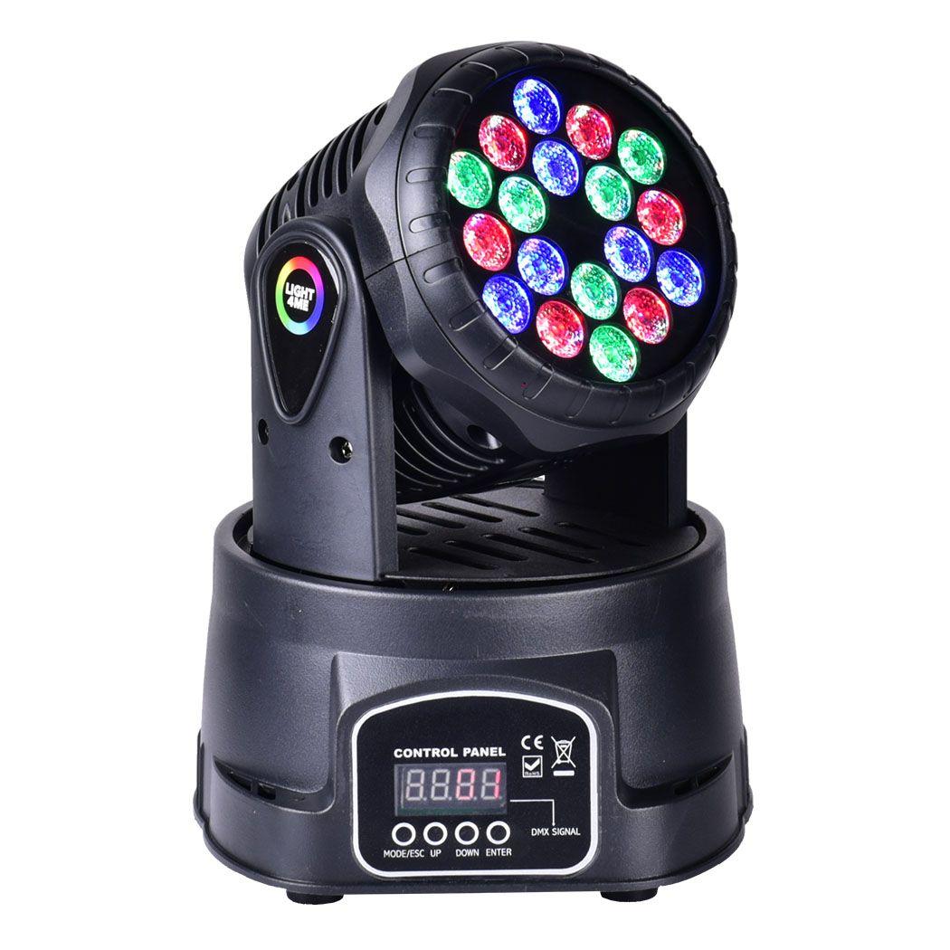LIGHT4ME COMPACT MOVING HEAD 18x3W głowa led