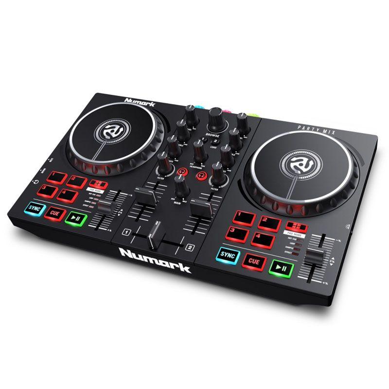 NUMARK PARTY MIX II kontroler konsoleta DJ USB LED