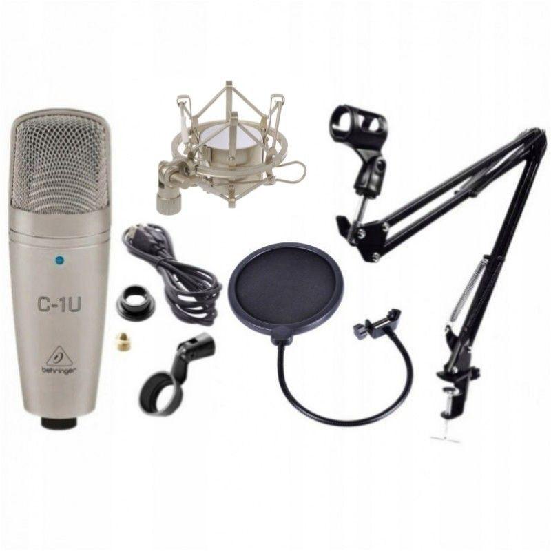 BEHRINGER C-1U USB mikrofon studyjny + statyw + popfiltr