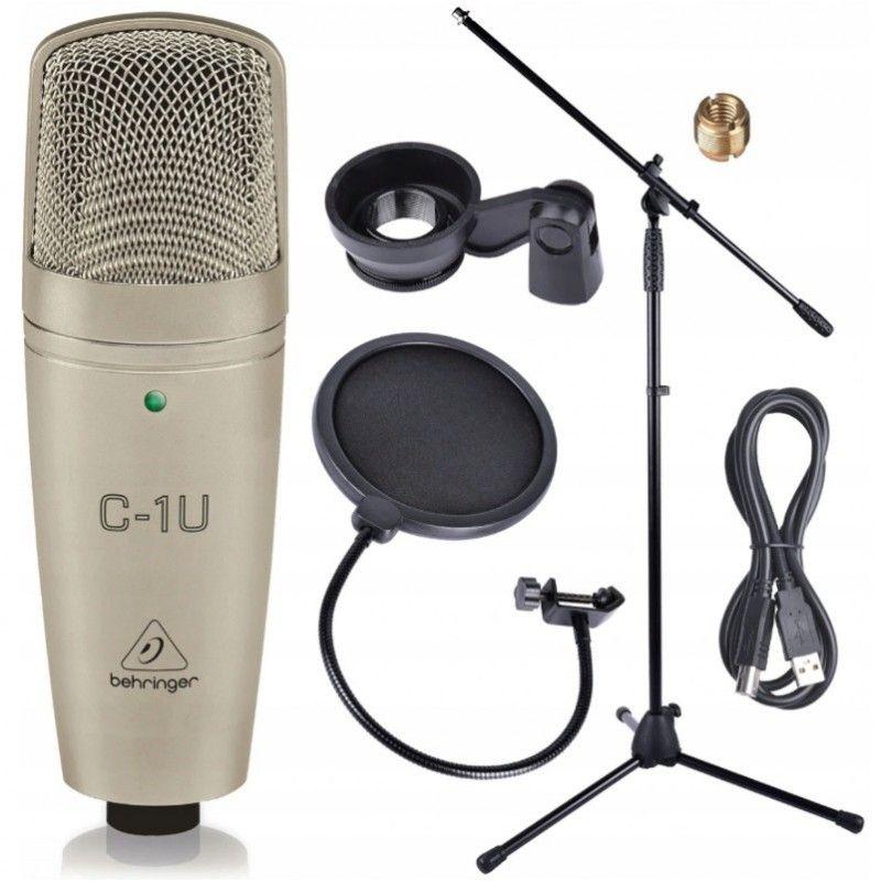 BEHRINGER C-1U USB mikrofon studyjny + statyw popfi