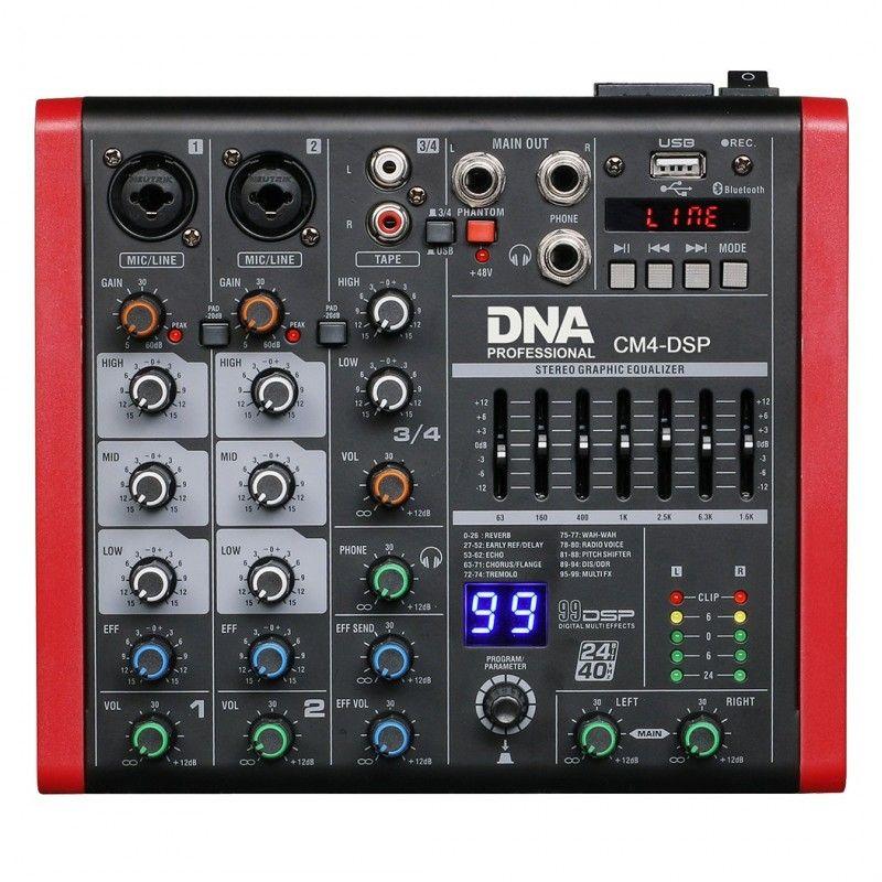 DNA CM4-DSP mikser audio USB MP3 Bluetooth Phantom