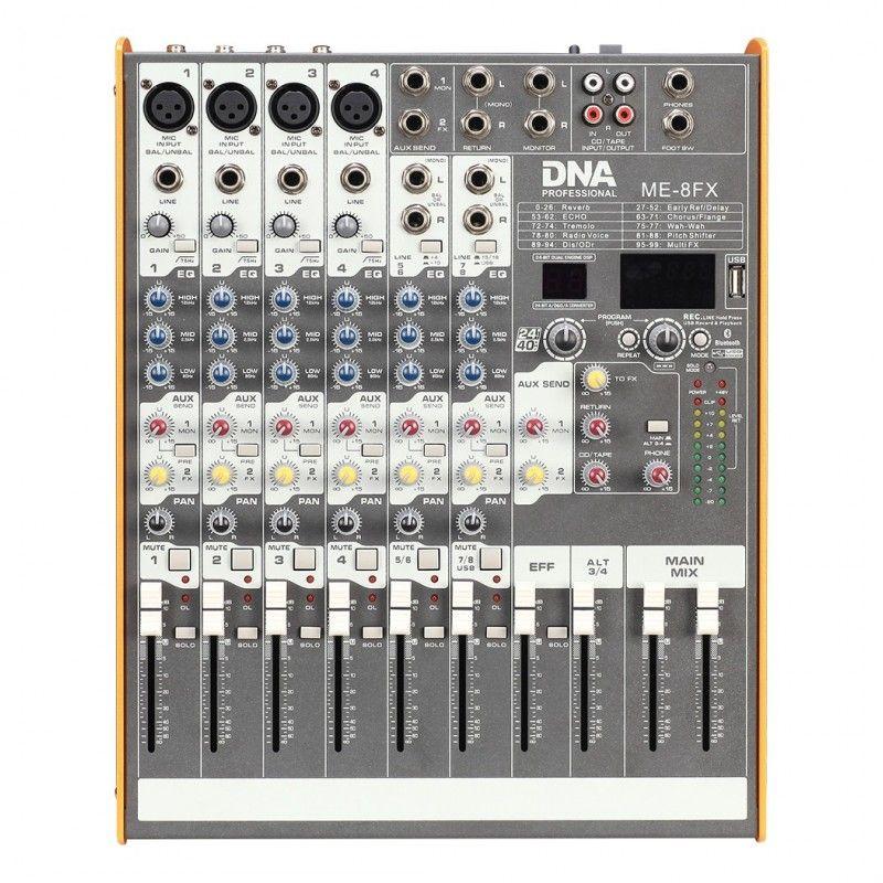 DNA ME-8FX mikser audio 8 kanał USB Bluetooth