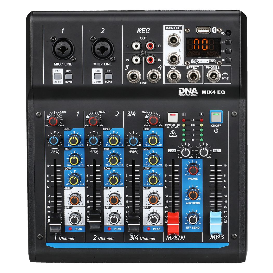 DNA MIX 4 EQ mikser audio USB MP3 Bluetooth analogowy