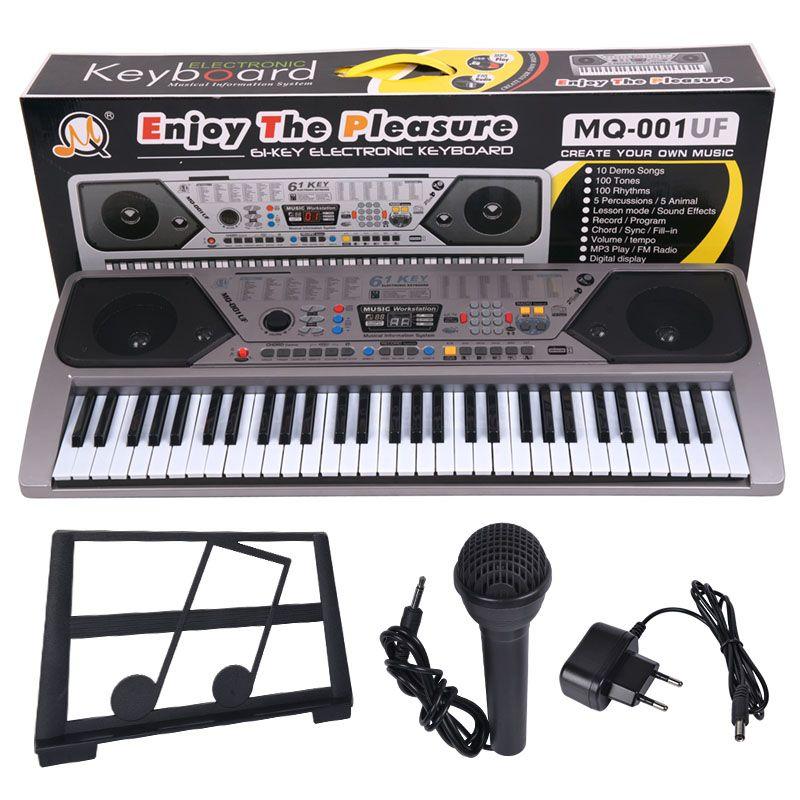 MQ 001 UF KEYBOARD klawisze organy z mikrofonem dla dzieci USB MP3 radio