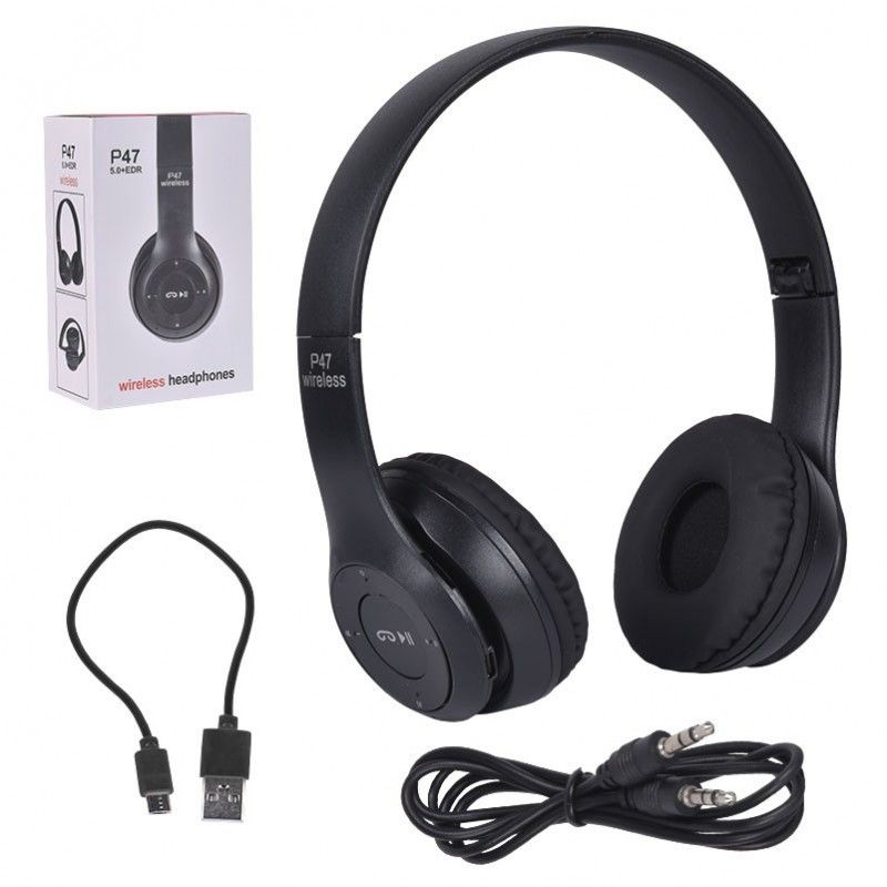 NN P47 BLACK słuchawki bezprzewodowe Bluetooth TF