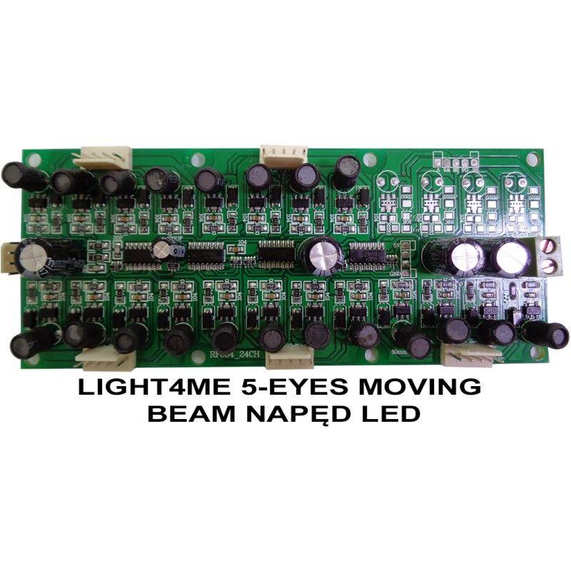 S. LIGHT4ME 5-EYES MOVING BEAM NAPĘD LED
