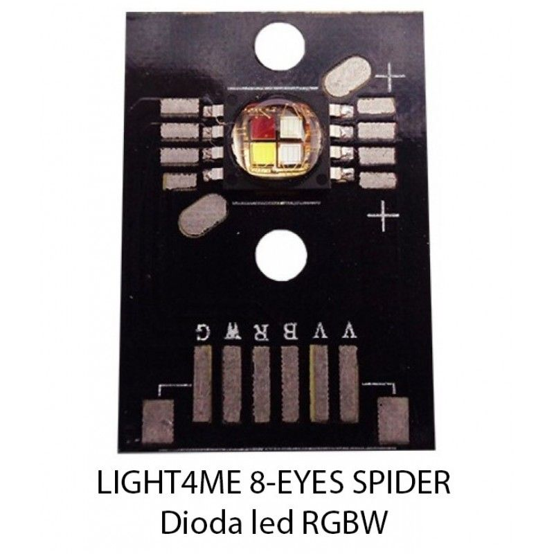S. LIGHT4ME 8-EYES SPIDER DIODA LED RGBW