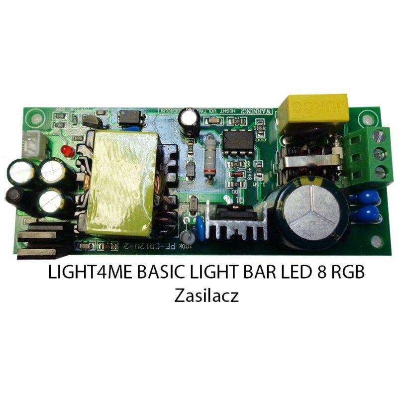 S. LIGHT4ME BASIC LIGHT BAR LED 8 RGB ZASILACZ