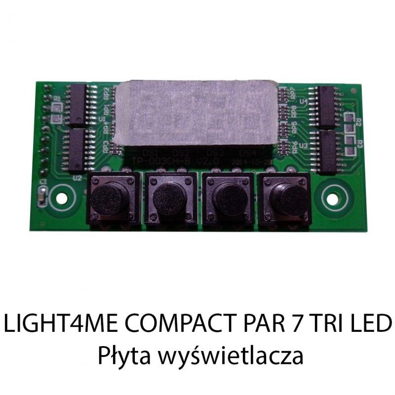 S. LIGHT4ME COMPACT PAR 7 TRI LED PŁYTA WYŚWIETLAC