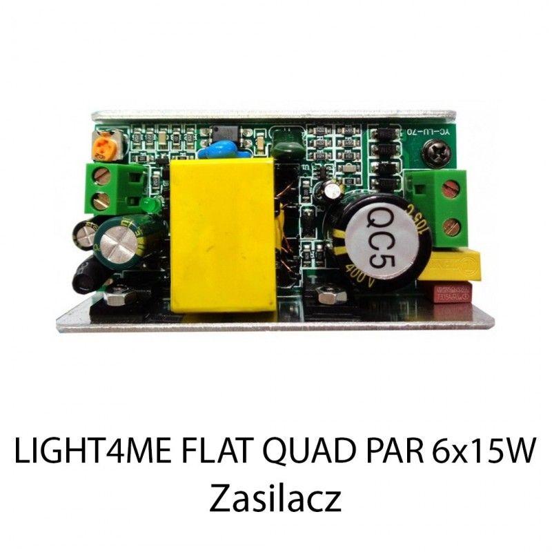 S. LIGHT4ME FLAT QUAD PAR 6x15W ZASILACZ 1