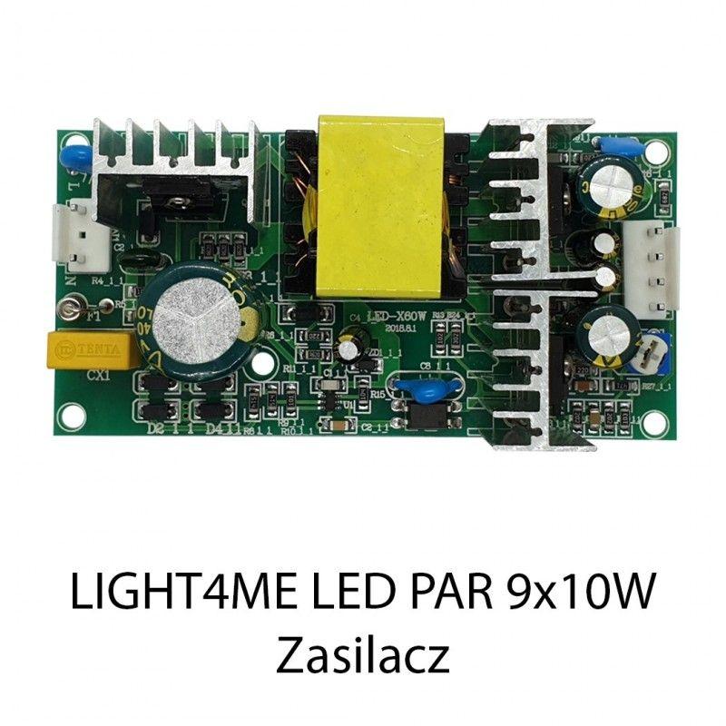 S. LIGHT4ME LED PAR 9x10 RGBW IR ZASILACZ