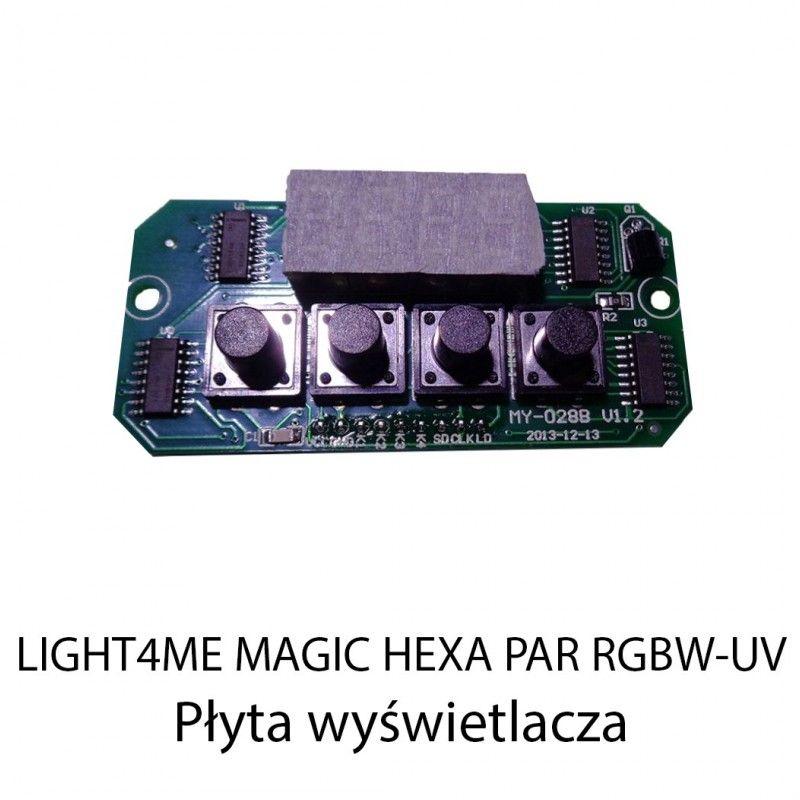 S. LIGHT4ME MAGIC HEXA PAR RGBW-UV PŁYTA WYŚWIETLA