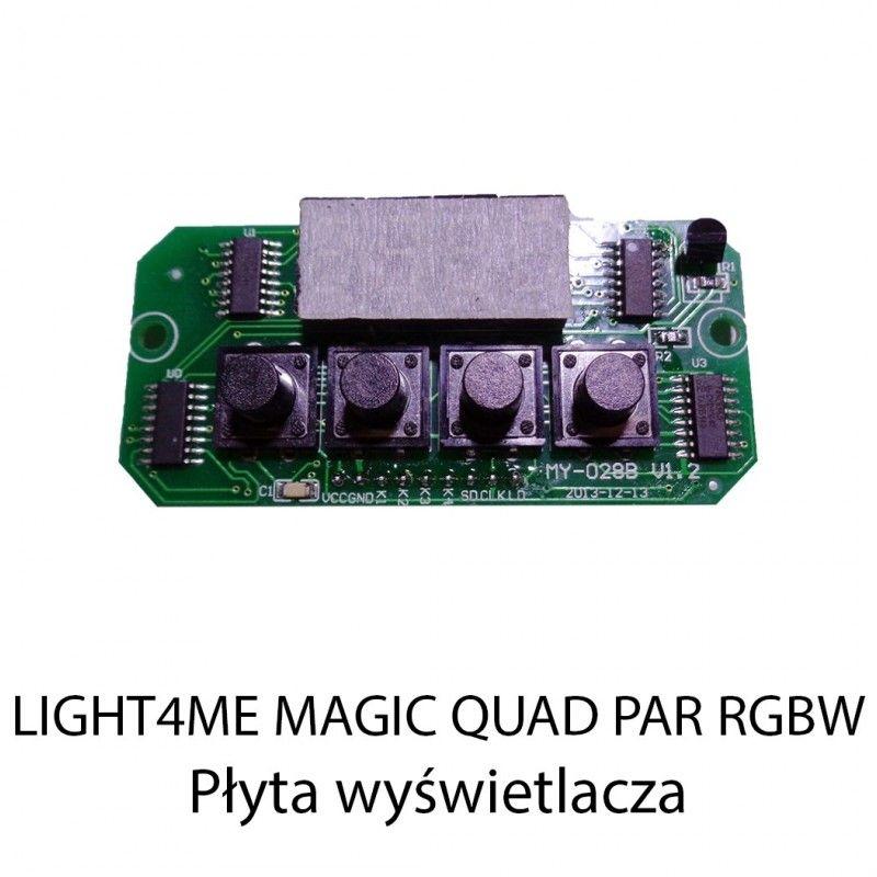 S. LIGHT4ME MAGIC QUAD PAR RGBW PLYTA WYŚWIETLACZA