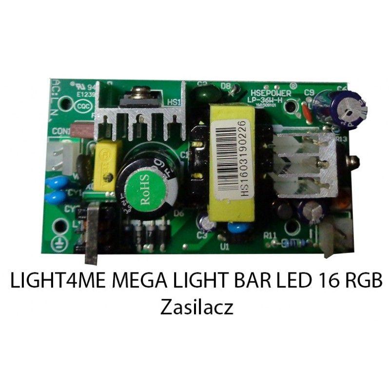 S. LIGHT4ME MEGA LIGHT BAR LED 16 RGB ZASILACZ