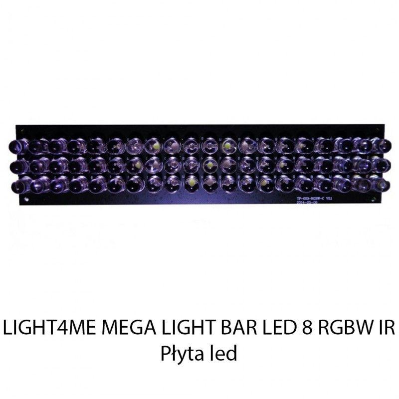 S. LIGHT4ME MEGA LIGHT BAR LED 8 RGBW IR PŁYTA LED