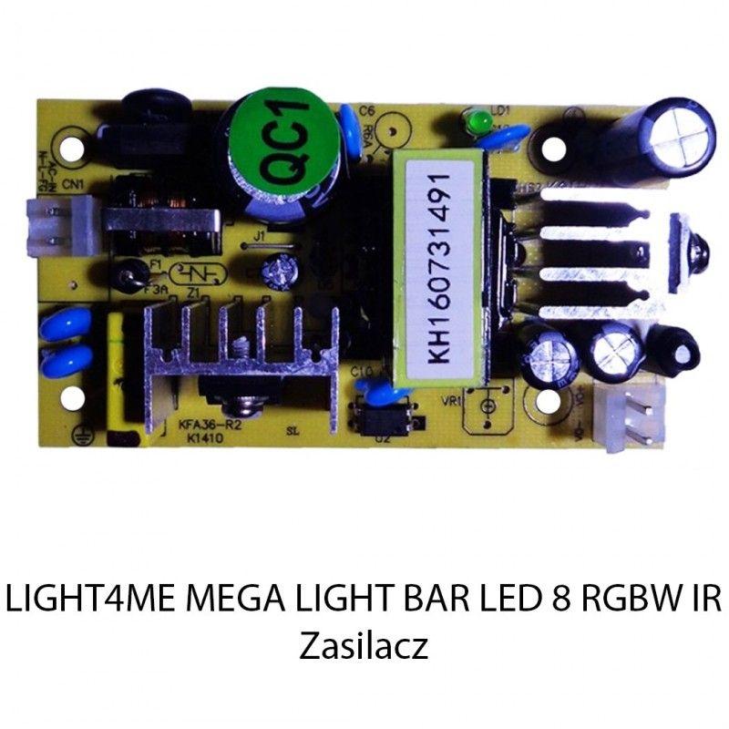 S. LIGHT4ME MEGA LIGHT BAR LED 8 RGBW IR ZASILACZ
