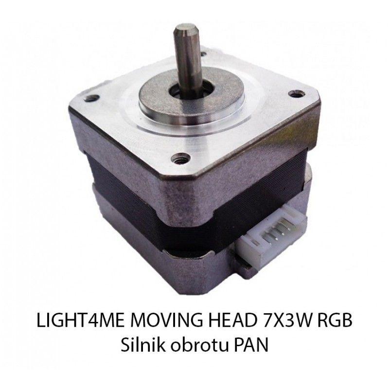 S. LIGHT4ME MOVING HEAD 7x3W RGB SILNIK OBROTU PAN