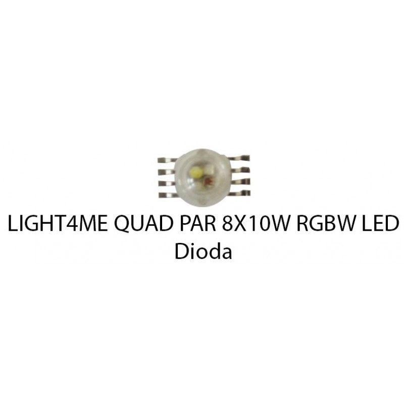 S. LIGHT4ME QUAD PAR 8x10W RGBW LED DIODA