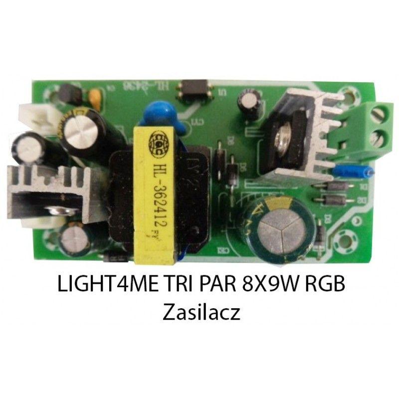 S. LIGHT4ME TRI PAR 8x9W RGB ZASILACZ