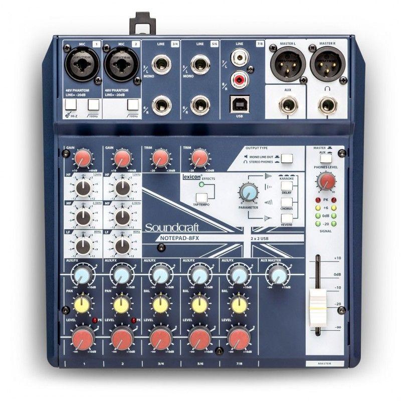 SOUNDCRAFT NOTEPAD 8 FX mikser audio USB LEXICON