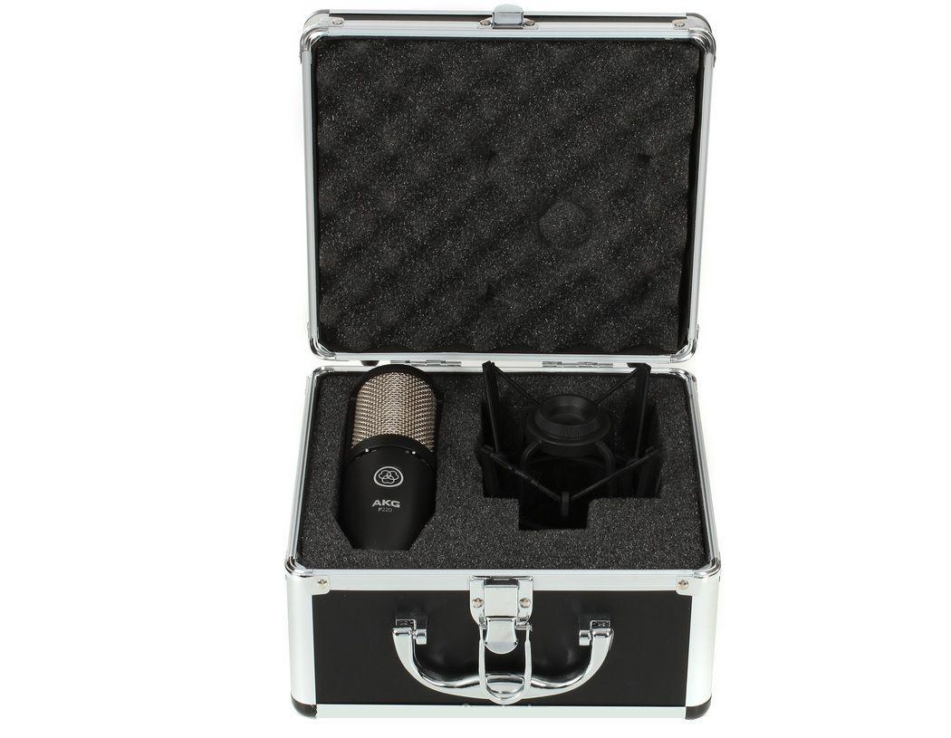 AKG P 220 mikrofon pojemnościowy XLR kosz walizka