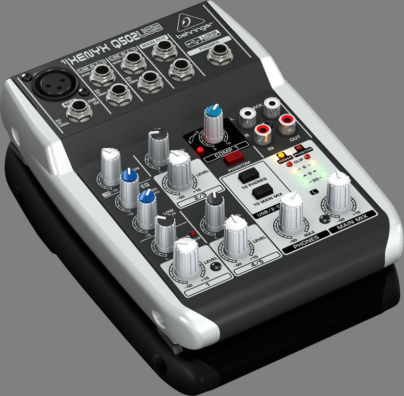 BEHRINGER XENYX Q502 USB mikser do domowego studia