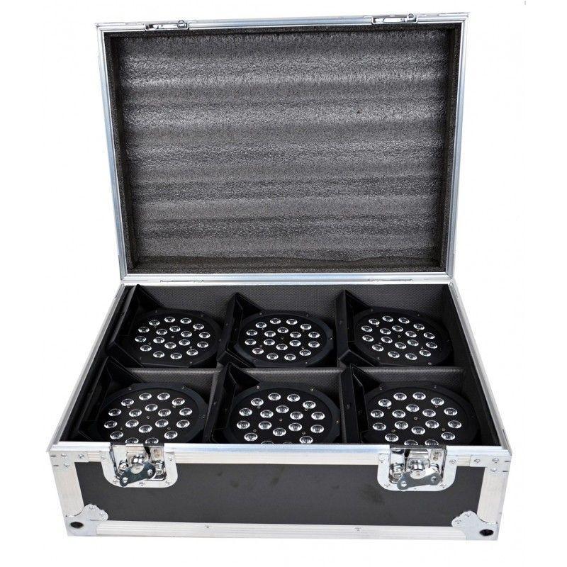 CASE4ME case na 6 szt FLAT PAR LED SLIM walizka