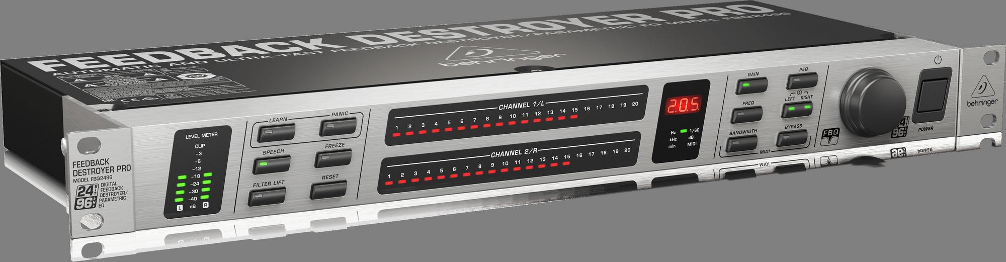 BEHRINGER FBQ 2496 eliminator sprzężeń procesor