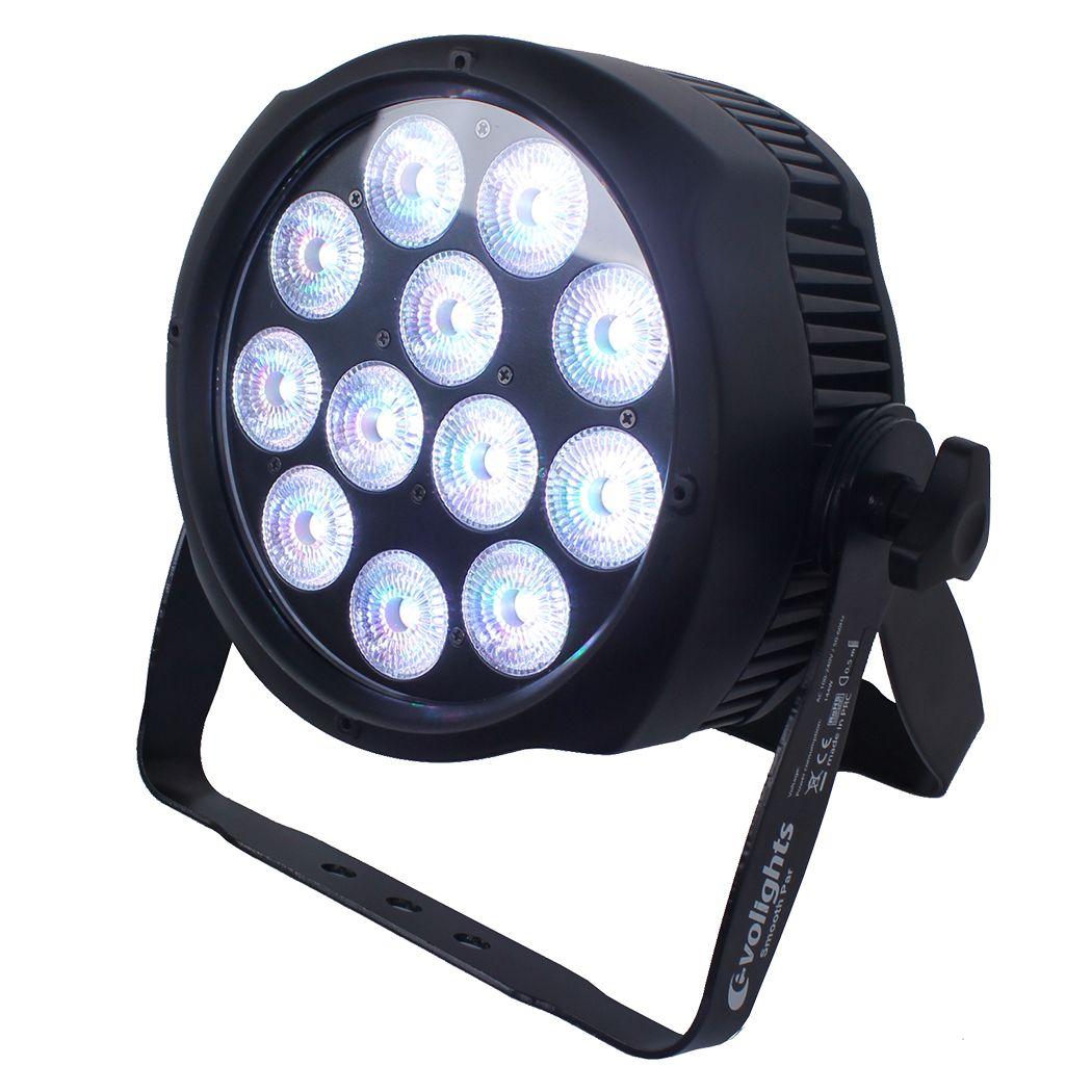 EVOLIGHTS SMOOTH PAR 12X10W RGBWA-UV LED IP65