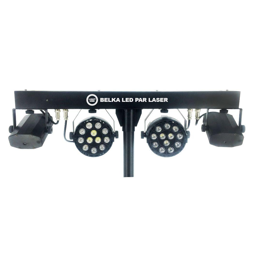 LIGHT4ME BELKA LED PAR LASER zestaw oświetleniowy