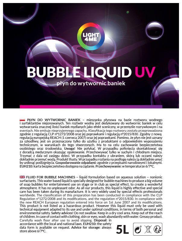 LIGHT4ME płyn do baniek mydlany efekt UV 5L