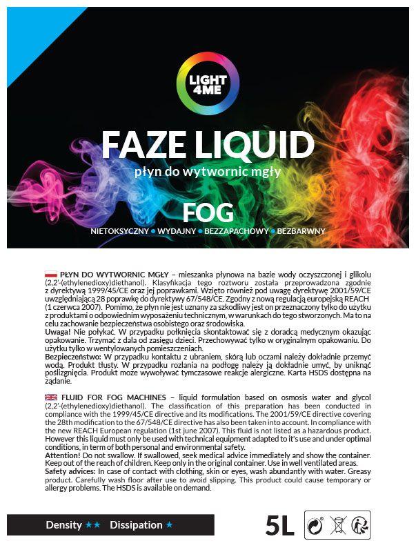 LIGHT4ME FAZE LIQUID 5L płyn do mgły lekki