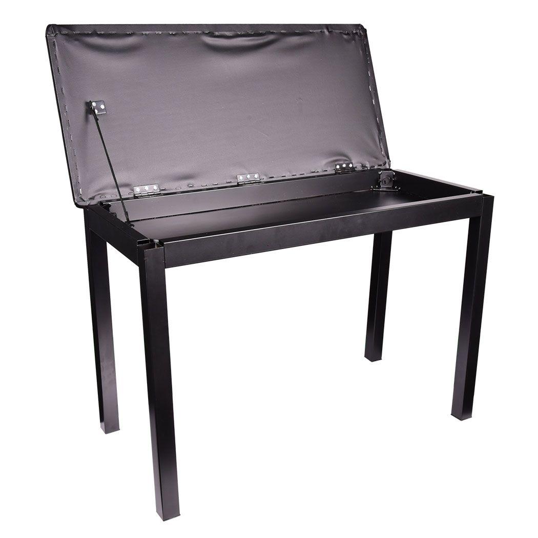 NN EP DOUBLE - czarna ława do pianina fortepianu